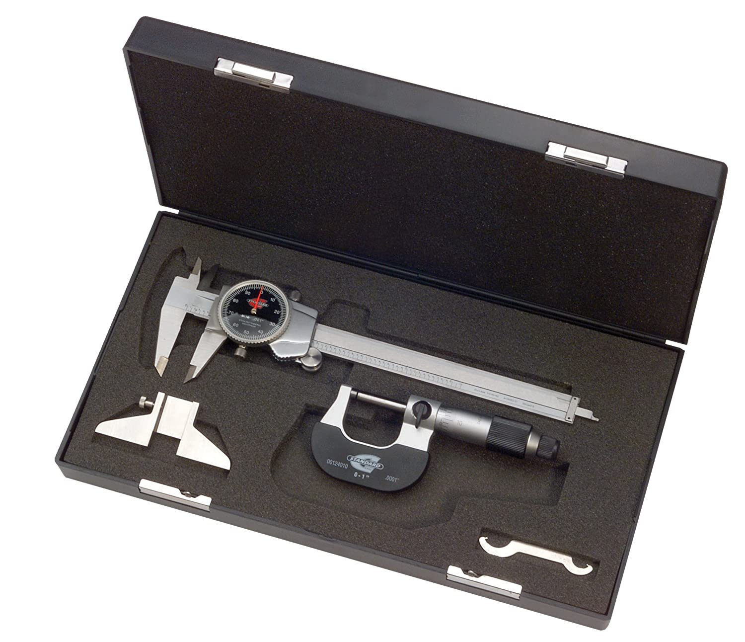 Standard Gage 00524103 Value Micrometer and Caliper Set (Black Face) Hexagon Metrology