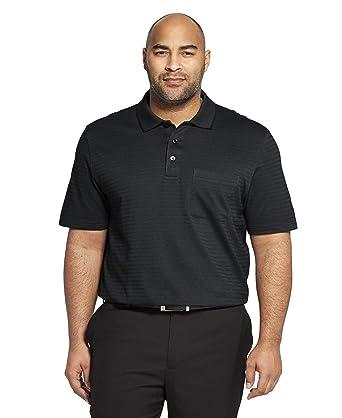 c27c65dbb Van Heusen Men's Big and Tall Flex Short Sleeve Stretch Stripe Polo Shirt  at Amazon Men's Clothing store: