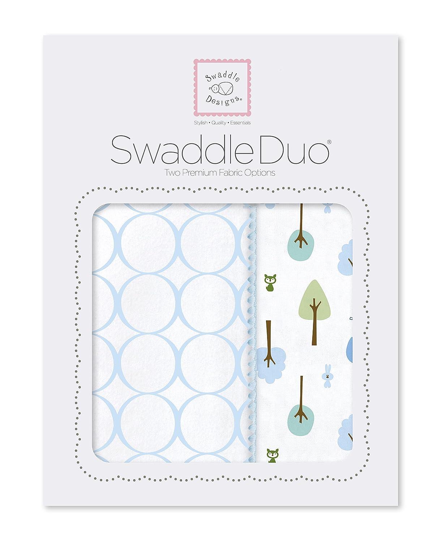 Niedlich und Ruhig Baumwollmusselin und Baumwollflanell Pastellblau SwaddleDesigns SwaddleDuo 2er Set 2er Set