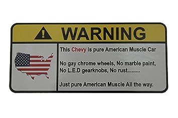 Amazoncom BMW Vanos Engine No Bra Warning Decal Sticker - Bmw car signs warning