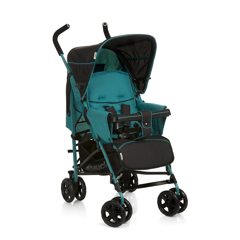 Silla de paseo para bebes de 0 meses hasta 15 kg plegado ligero ruedas desmontables compacta y ligera color negro y rojo sistema de arn/és de 5 puntos Hauck Sprint respaldo reclinable