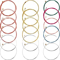 Bememo 3 Sets of 6 Acoustic Guitar Strings Replacement Steel String for Guitar, 1 Set Brass 1 Set Copper and 1 Set…