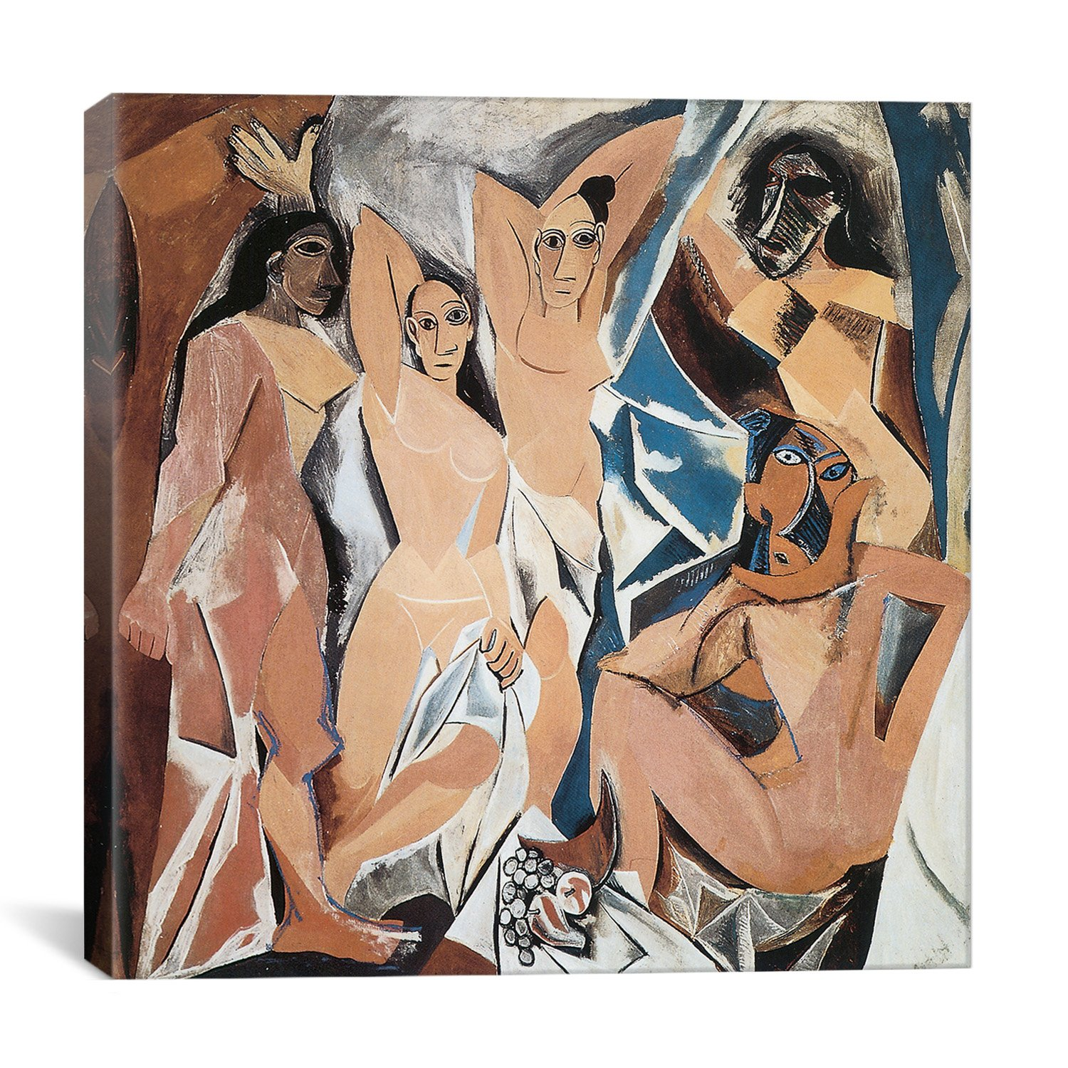 iCanvasART 1708 Les Demoiselles D'Avignon Canvas Print by Pablo Picasso, 37 by 37-Inch, 0.75-Inch Deep