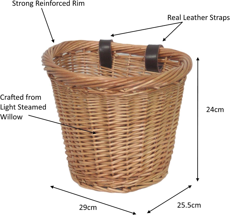 Wrenbury Panier de v/élo ovale traditionnel en osier robuste