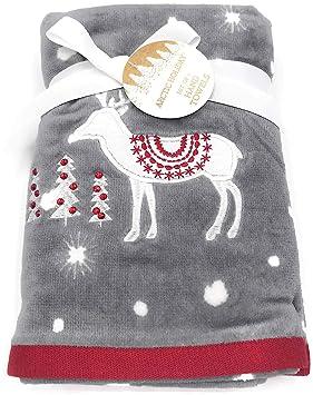 Artic Holiday Juego de Toallas Bordadas con diseño de Reno de Navidad: Amazon.es: Hogar
