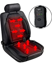 Sojoy Universal 12V Heated Car Seat Heater Heated Cushion Warmer High/Low/Temp Switch, 45 Minute Timer (Black)