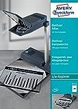 Avery Zweckform 3555 Overhead-Folien (A4, unbeschichtet, nur für Einzelblatteinzug, Stärke: 0,10 mm) 100 Blatt