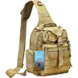 Prospo Tactical Sling Bag Pack Military Molle EDC Chest One Strap Daypack Outdoor