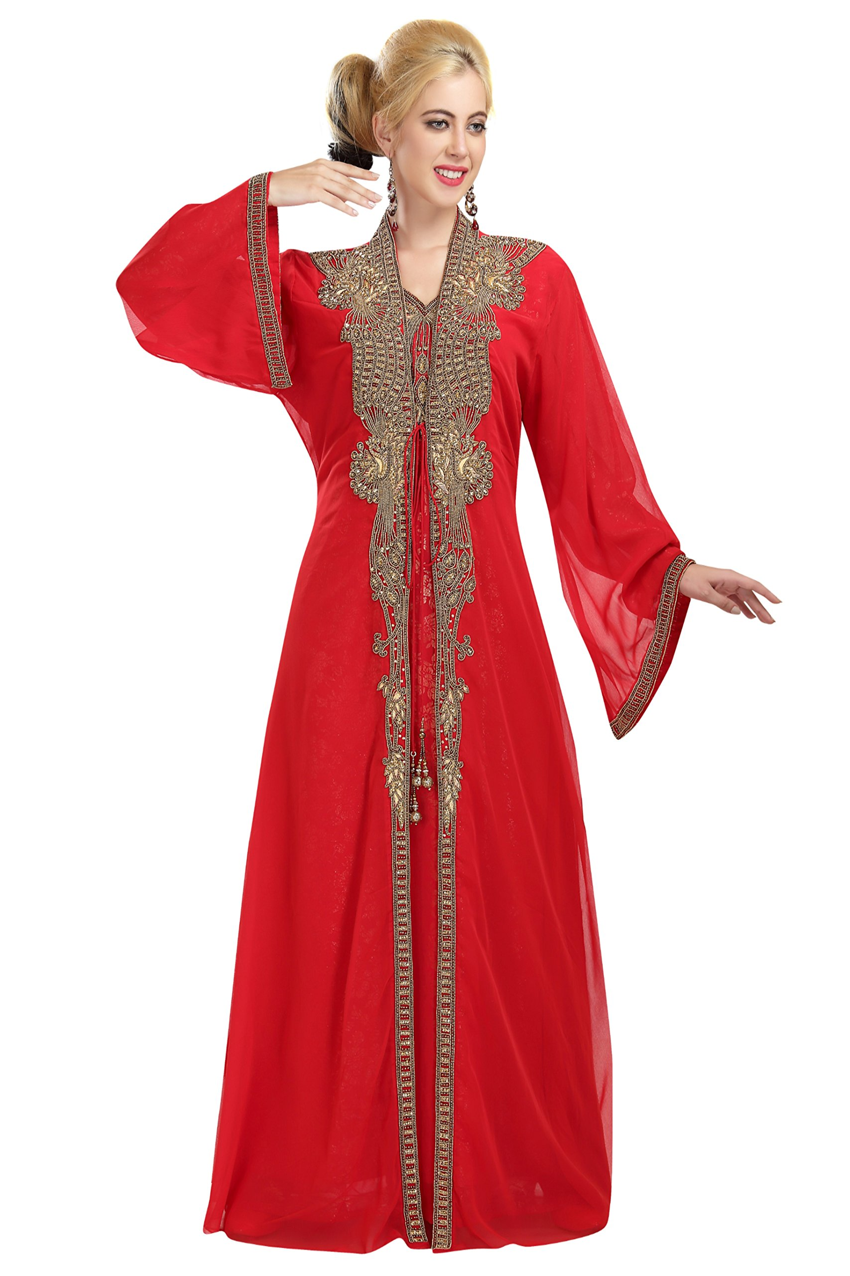 Beautiful Customized Party Wear Khaleeji Kaftan for Special Functions 5873 (S)