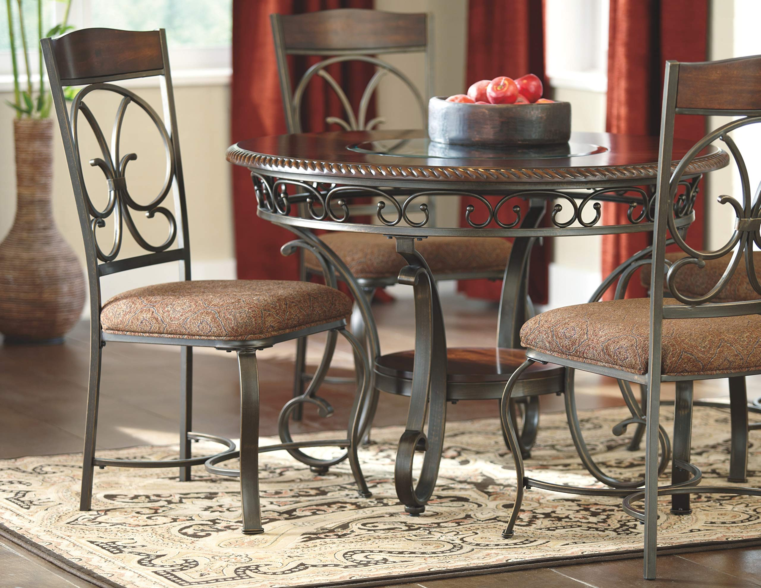 Ashley Furniture Signature Design - Glambrey Dining Room Table - Round - Brown by Signature Design by Ashley (Image #5)