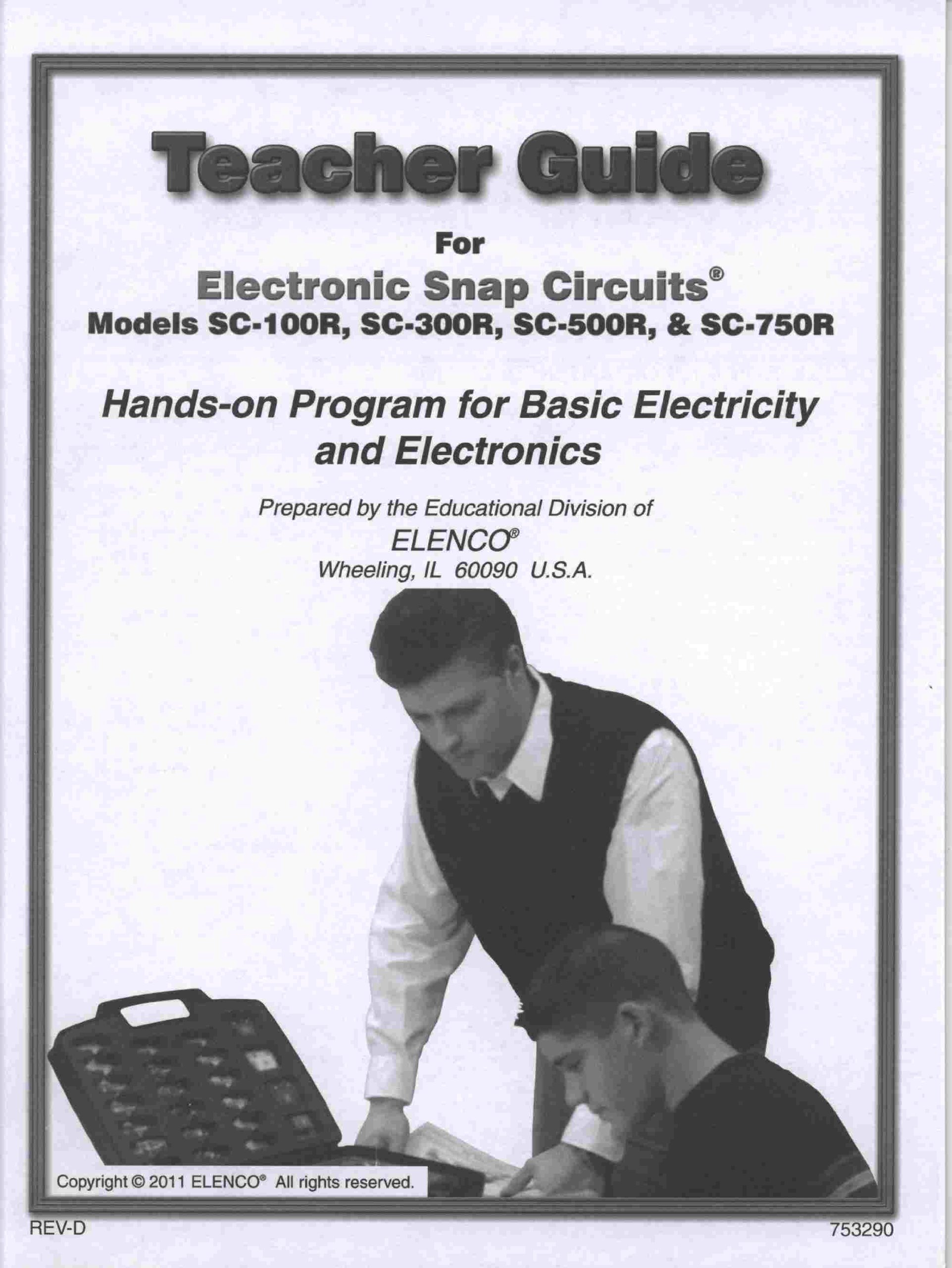 Teacher Guide for Electronic Snap Circuits Hands-on Program for Basic Electricity (Models SC-100R, SC-300R, SC-500R, & SC-750R) PDF