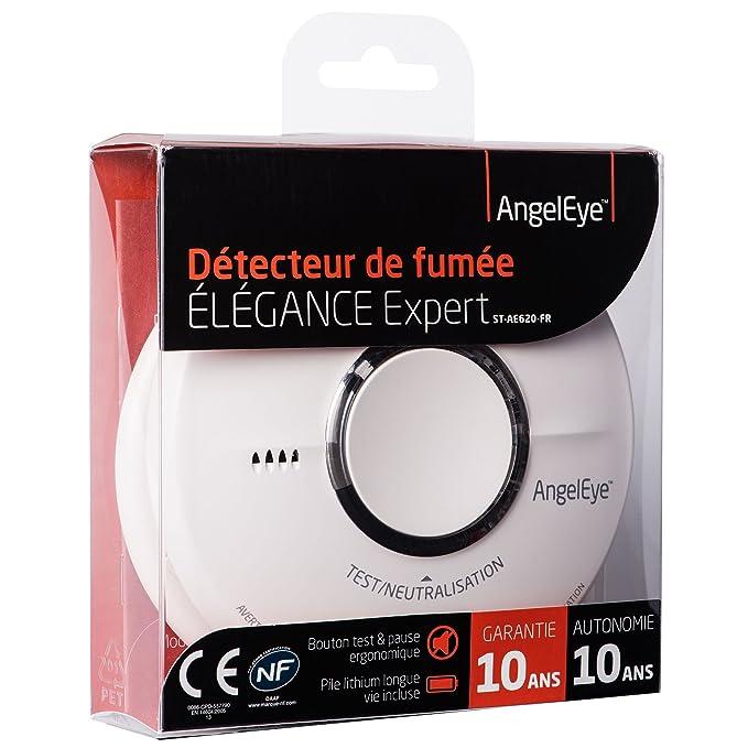 AngelEye Elegance Expert ST 620 - Detector de humo, incluye batería con 10 años de vida útil: Amazon.es: Iluminación