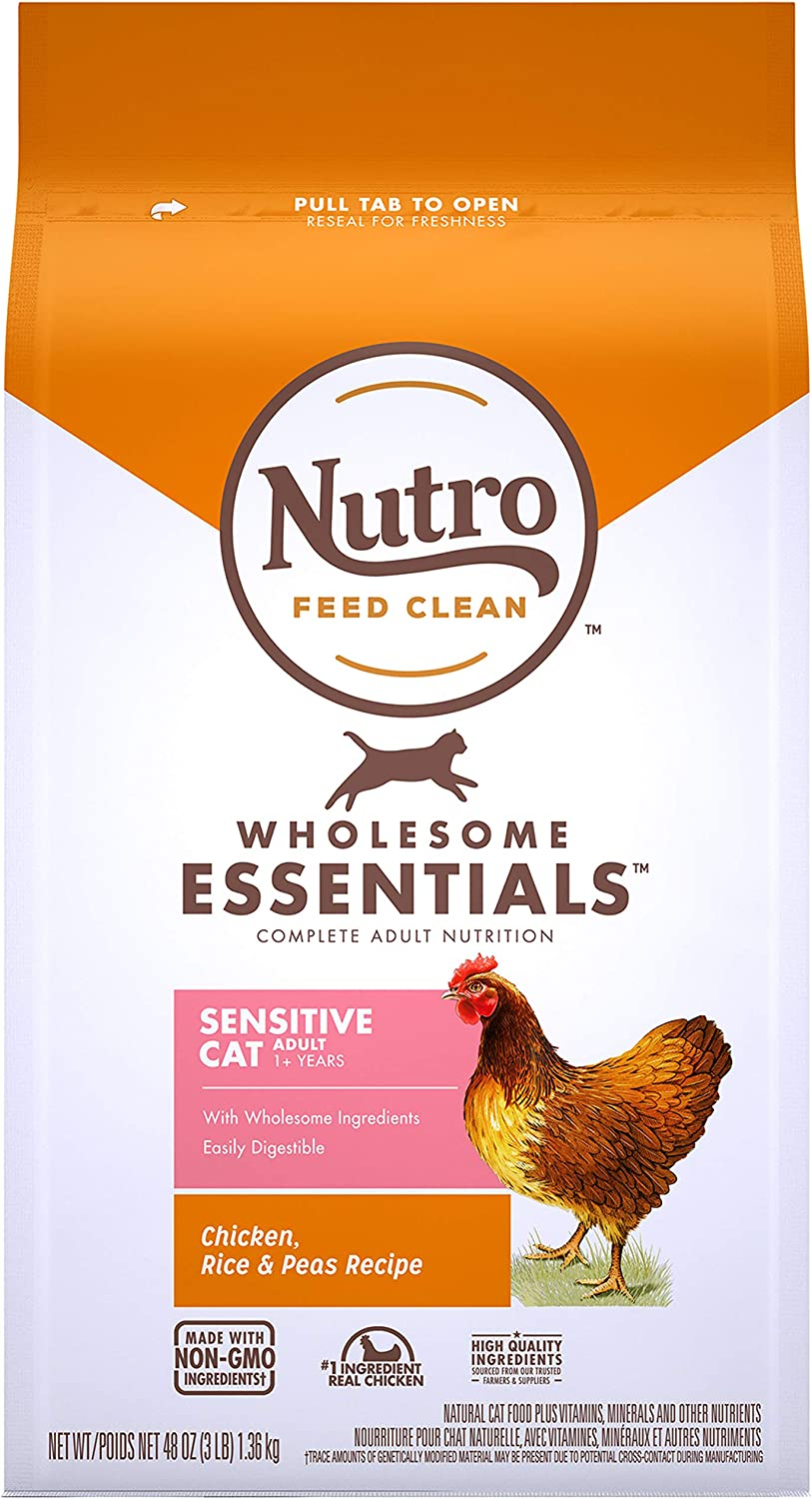 Nutro Wholesome Essentials Indoor and Sensitive Digestion Dry Cat Food, Chicken