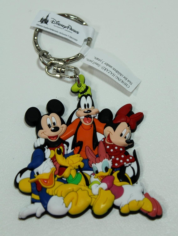 Parques de Disney Mickey Mouse y sus amigos de goma llavero ...
