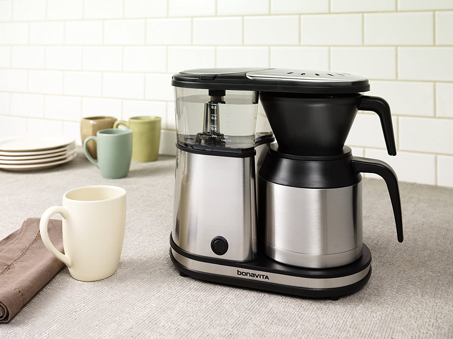 Bonavita 8 Cup Coffee Maker With Glass Carafe Bv - Amazon com bonavita bv1500ts 5 cup carafe coffee brewer stainless steel kitchen dining