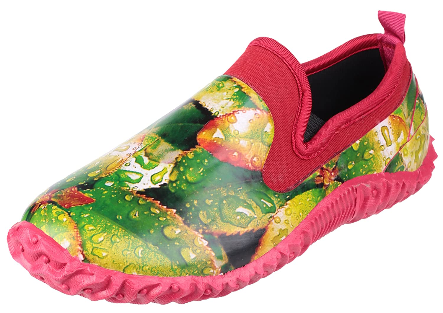 Cotswold girls Cotswold Ladies Backdoor High Def Print Waterproof Garden Shoe Green Rubber