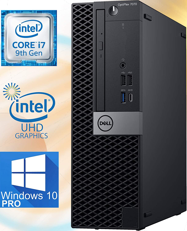 Dell OptiPlex 7070 Small Form Factor Desktop Computer – 9th Gen Intel Core i7-9700 - 16GB RAM - 512GB NVMe SSD – Wi-Fi, Bluetooth - Windows 10 Pro