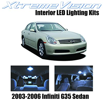 Xtremevision Interior LED for Infiniti G35 Sedan 2003-2006 (7 Pieces) Cool White Interior LED Kit + Installation Tool: Automotive