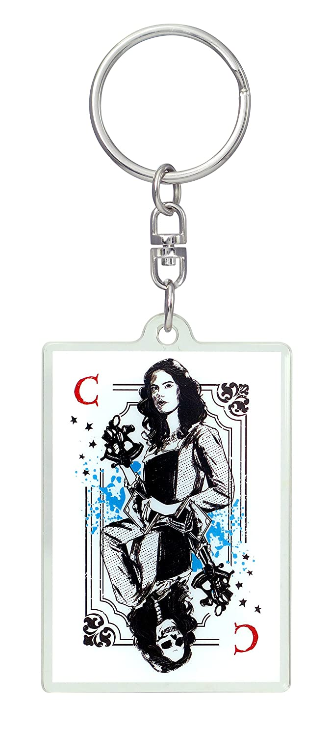 Disney Pirates of the Caribbean Dead Men Tell No Tales Carina Smyth Lucite Key Ring Accessory