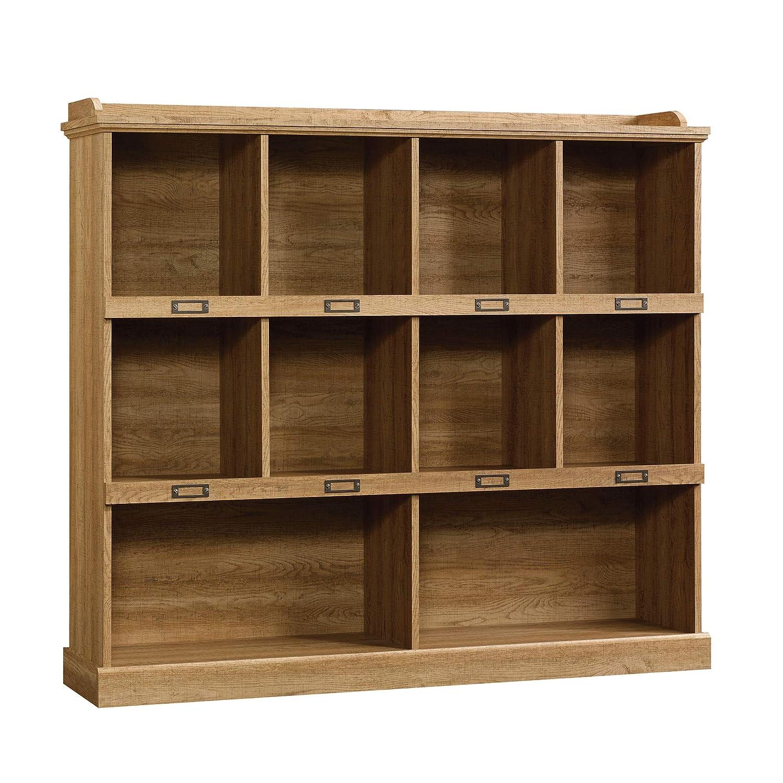 Sauder Barrister Lane Bookcase, L 53.15 x W 12.13 x H 47.52 , Scribed Oak finish