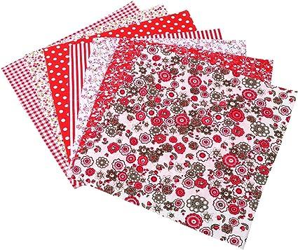 De Coton Patchwork Tissu Noël V tissus a//s étoiles en argent nouveau Bricolage