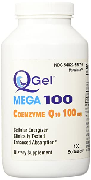 Amazon.com: q-gel Mega 100 (100mg CoQ10 Hidrosoluble), Rojo ...