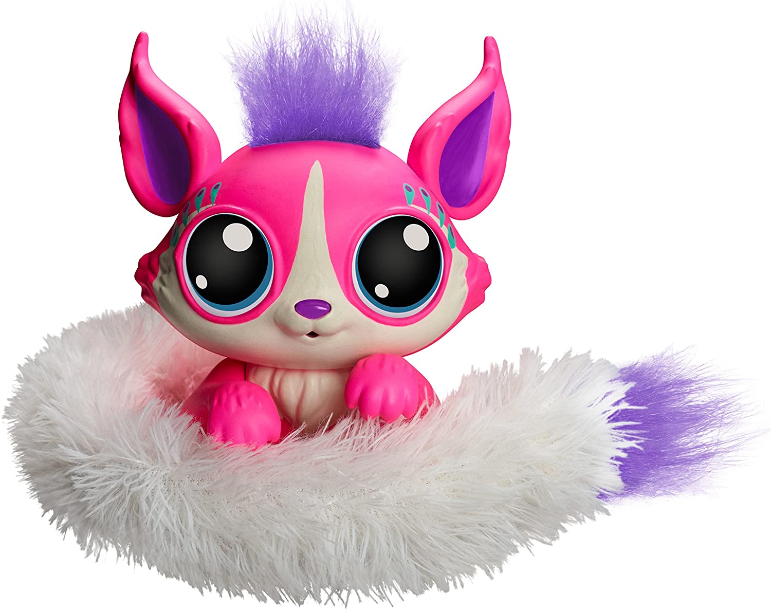 an adorable LIl' Gleemerz toy in bright pink with white furry tail for girls