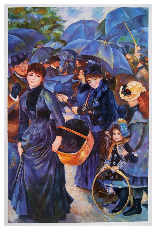 Amazon.com: El paraguas – Pierre-Auguste Renoir pintado a ...