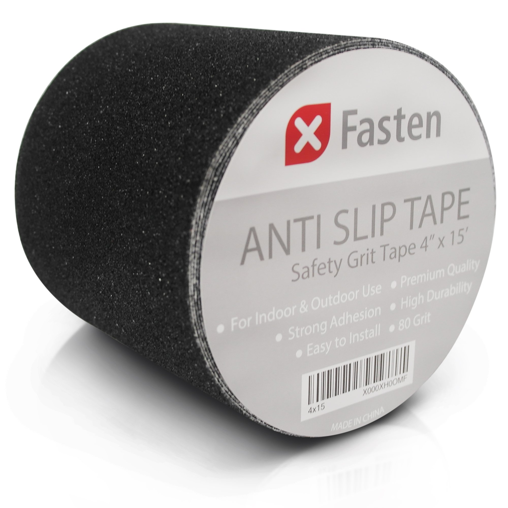 XFasten Anti Slip Tape, 4-Inch by 15-Foot Pet-Safe, Hypo-Allergenic, Weather proof and Non Skid Indoor and Outdoor Safety Track Tape