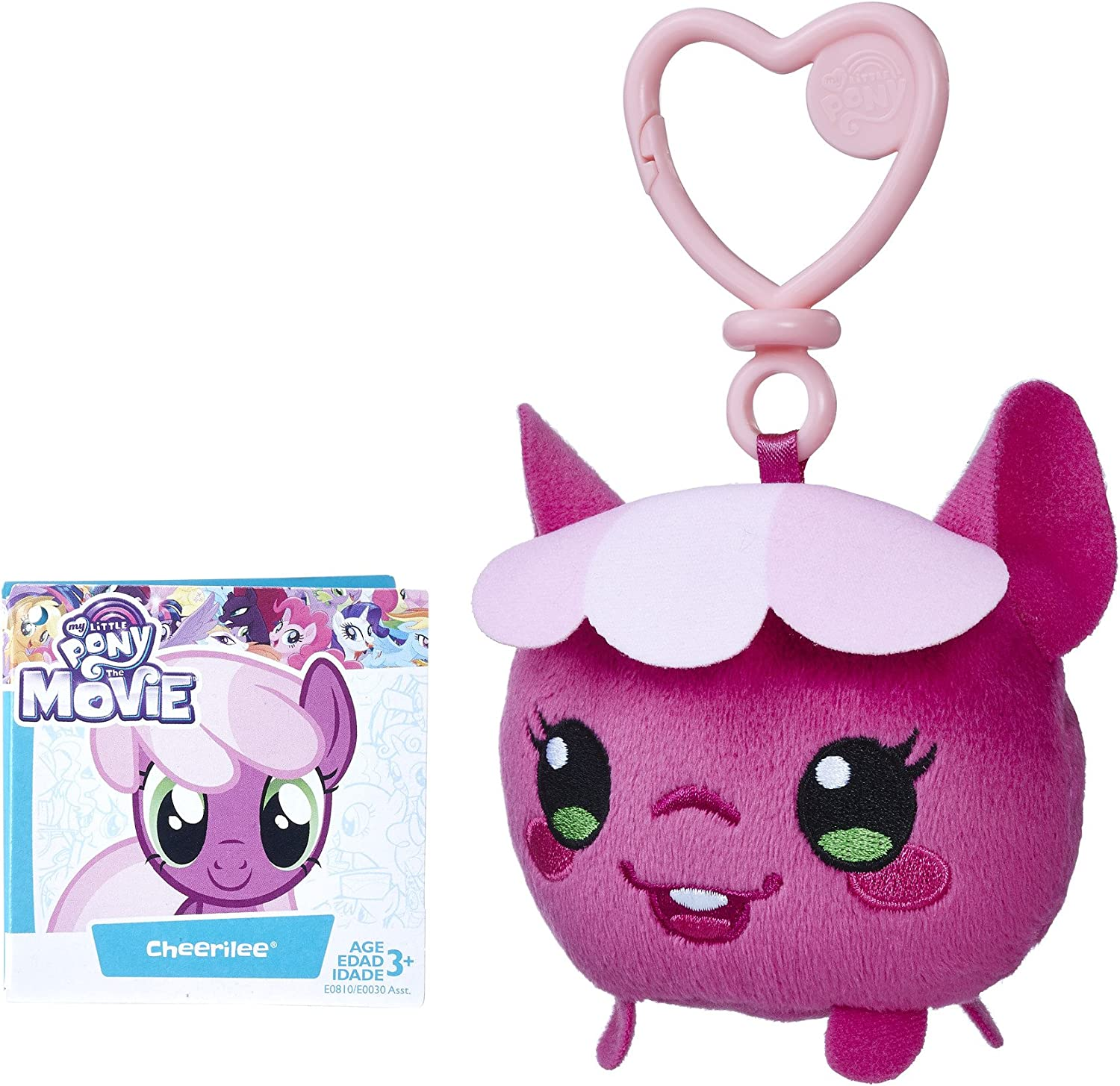 My Little Pony The Movie Pinkie Pie Clip And Go 3 Inch Plush  New