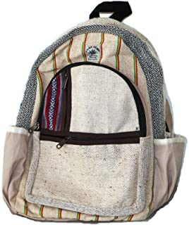 Mochila de fibra de cáñamo / Mochila de cáñamo / Daypack para la escuela, viajes, vacaciones, ocio, al aire libre, festival – con…
