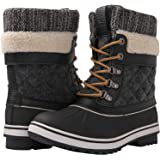GLOBALWIN Women's Waterproof Winter Snow Boots Size: 11