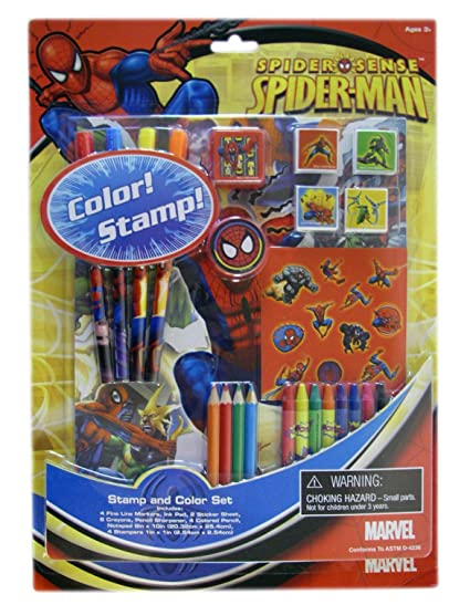 Amazon.com: De The Amazing Spiderman Color y juego de sellos ...