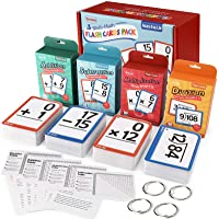 Torlam Multi Math Flash Cards for Kids Ages 4-8 - Addition, Subtraction, Multiplication, & Division - All Facts 0-12…