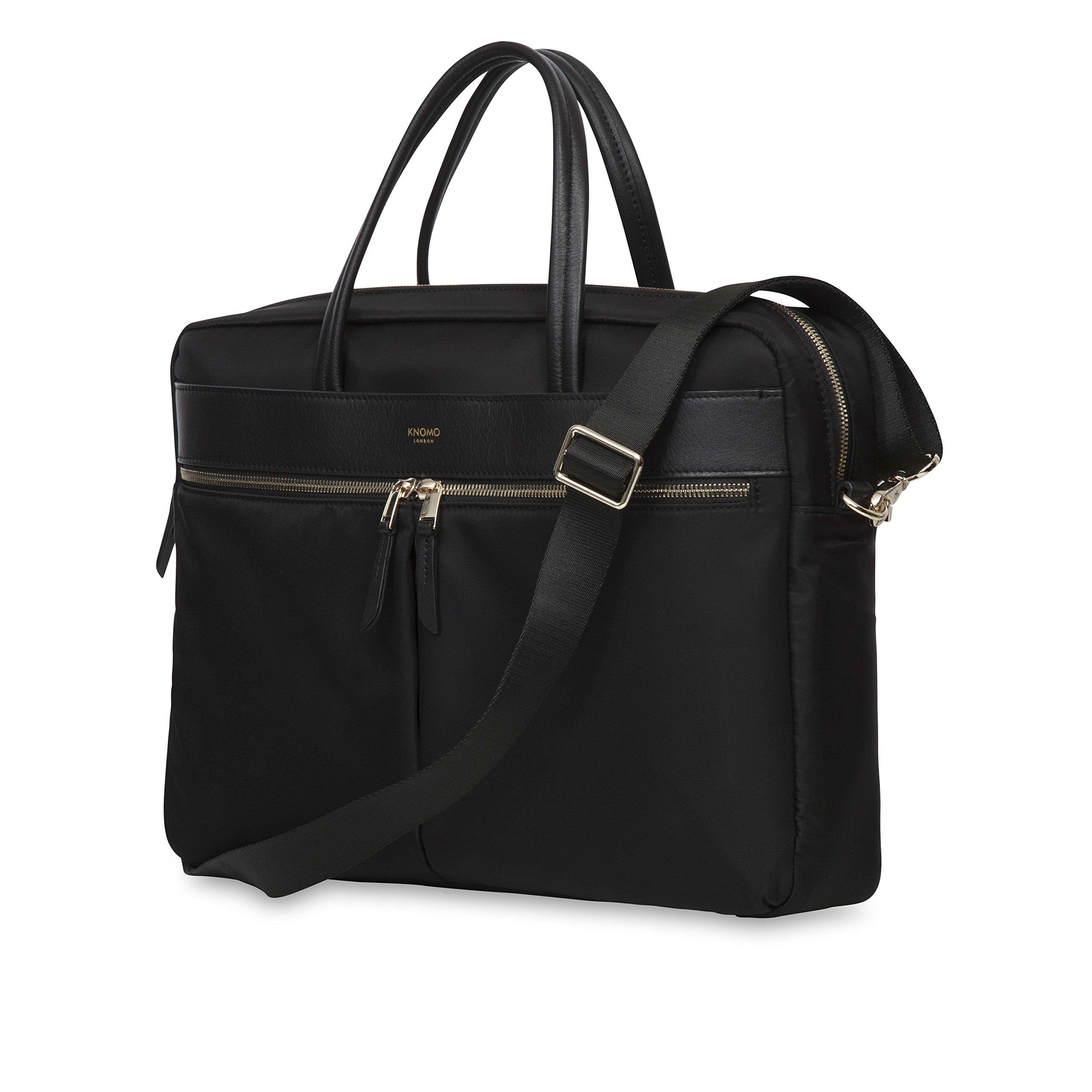 KNOMO Hanover Slim Briefcase 15'' - Black by Knomo