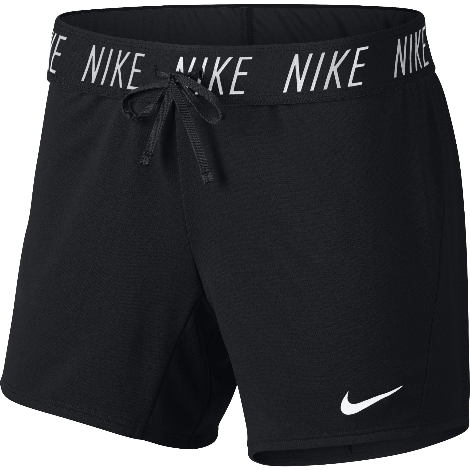 NIKE Women's Dry Attack Trainer 5'' Athletic Shorts, Black/White, X-Small