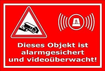 Video Uberwachung Aufkleber Objekt Alarmgesichert Videouberwacht