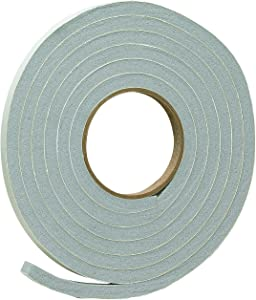 """Frost King Vinyl Foam Tape - Closed Cell - Moderate Compression, 1/2 W"""", 3/8"""" Thick, 10' L, Grey"""