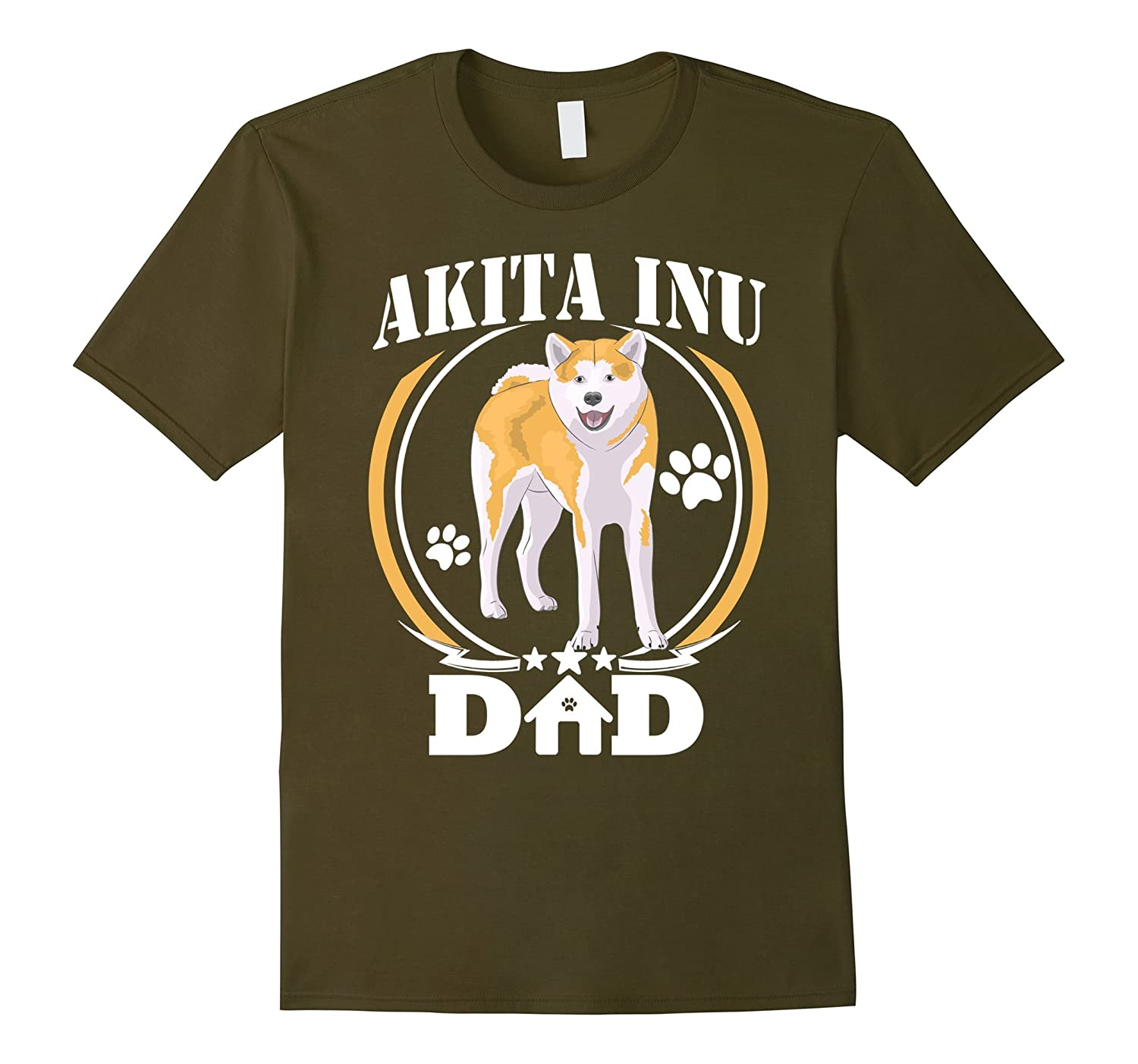 Mens Akita Inu Dad T-shirt Best Dog Dad Ever Birthday Gifts Idea-ah