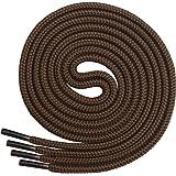 Miscly Lacci Scarpe Rotondi [3 Paia] Stringhe Scarpe Robuste E Resistenti - Lacci Per Scarpe Da Montagna, Scarponi, Stivali, Scarponcini - Diametro 5 mm
