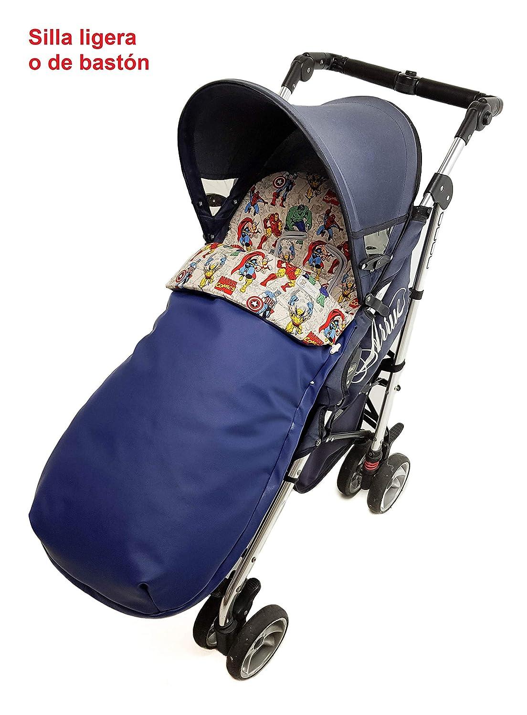 Saco silla de paseo universal de invierno en punto de lana y algod/ón de rayas Camel//camel Modelo sophie