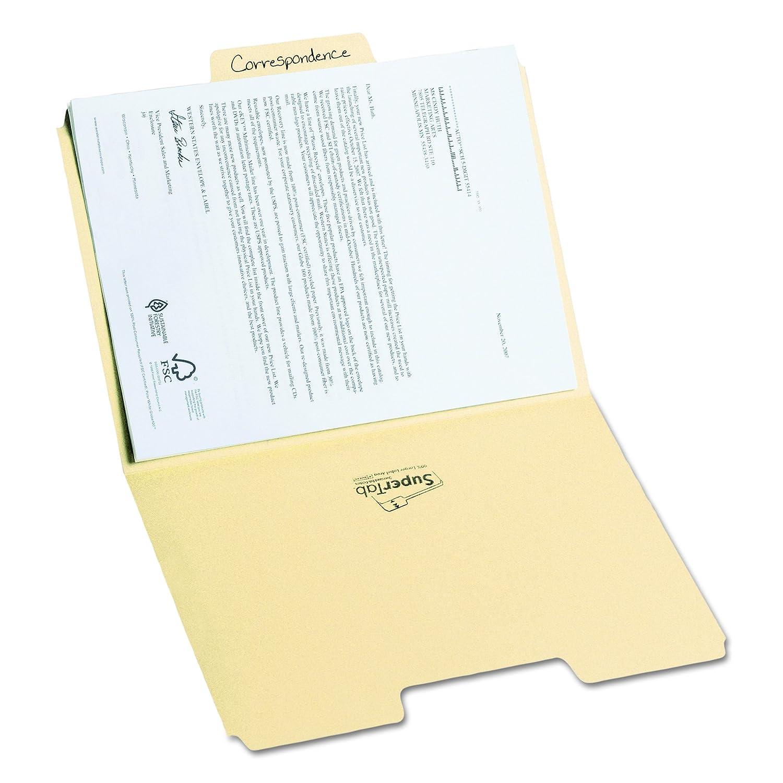 Manila Oversized 1//3-Cut Tab 10301 100 Per Box Smead SuperTab File Folder Letter Size