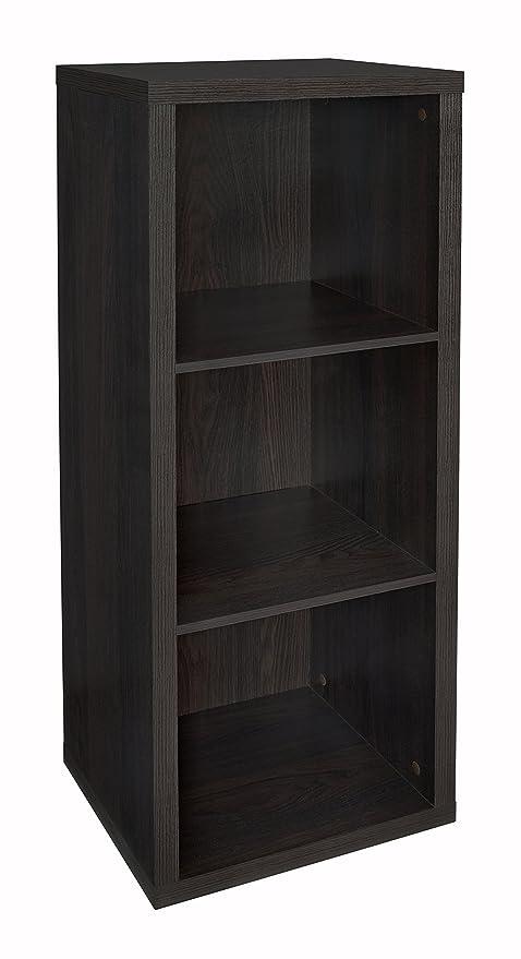 Gentil ClosetMaid 4107 Decorative 3 Cube Storage Organizer, Black Walnut
