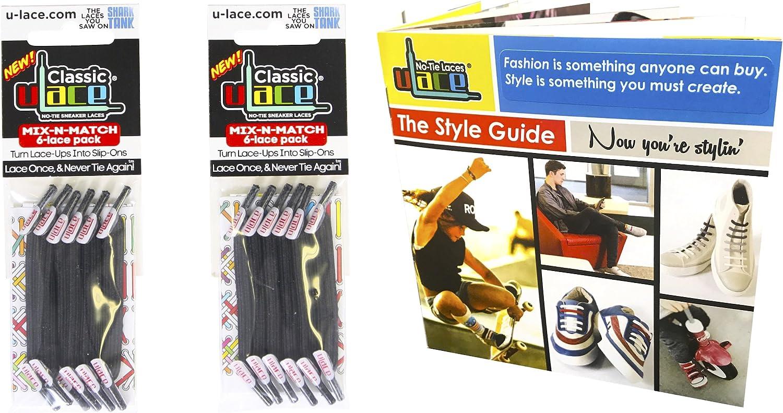 U-Lace Classic Original Fabric Style No-Tie Lace Bundles-2 Packs & Style Guide