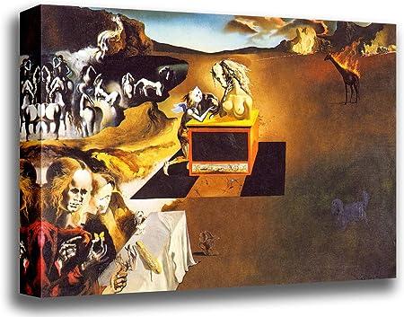 ODSAN Lienzo Impreso para Pared, diseño de Invención de los Monstruos de Salvador Dalí, Impresión en Lienzo, 18