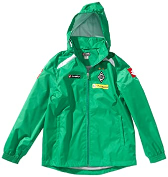 9fd8d0a5a2b3 Lotto Sport Men s Rain Jacket Long Sleeve Borussia Mönchengladbach 12 Green  parsley Size L