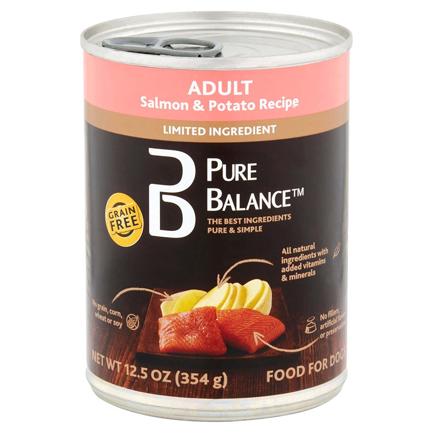 Pure Balance 95 Percent Wet Dog Food (12.5 Oz, Pack of 24) (Beef Vegetables & Brown Rice): Amazon.com: Grocery & Gourmet Food