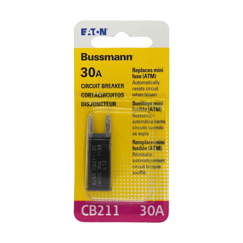 30 Amp Type-I ATM Mini Circuit Breaker Bussmann BP//CB211-30-RP