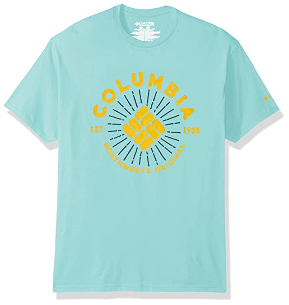 49bd2573314 Amazon.com: Columbia Apparel Men's Wasabi T-Shirt, Coastal Blue ...