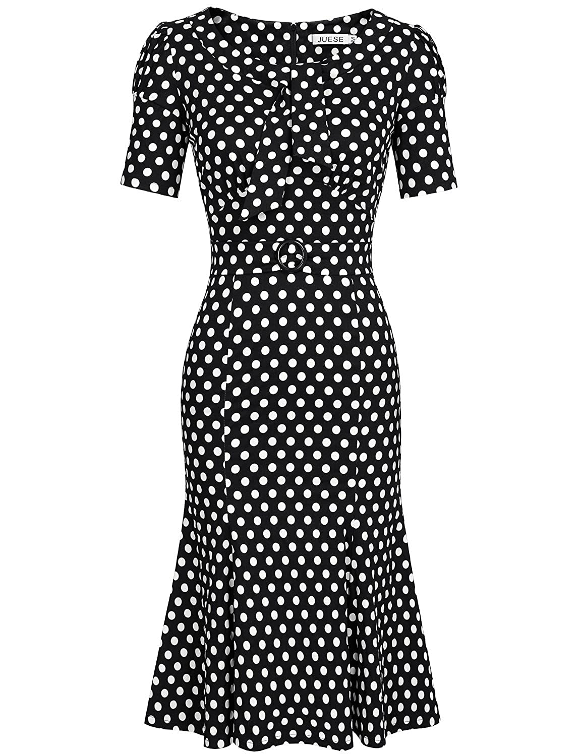 500 Vintage Style Dresses for Sale JUESE Womens 50s 60s Formal or Casual Party Pencil Dress $36.99 AT vintagedancer.com